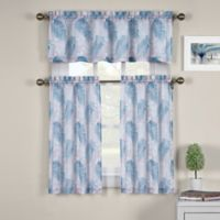 J. Queen New York™ St. Croix 24-Inch Kitchen Window Curtain Tiers in Blue