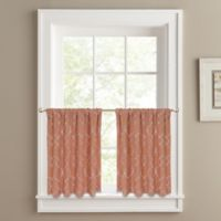 Colordrift Mandy 36-Inch Window Tier Pair in Coral