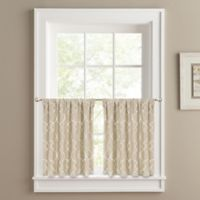 Colordrift Mandy 24-Inch Window Tier Pair in Sand
