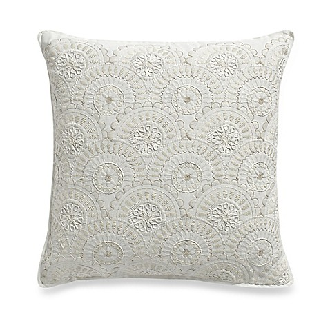 Stacy Square Throw Pillow in White - Bed Bath & Beyond