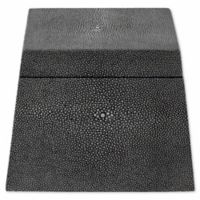 Safavieh Couture Bridie Faux Shagreen Box in Black