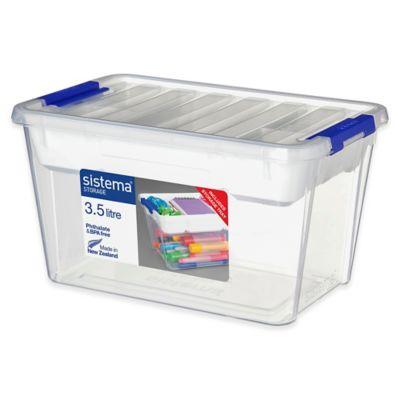 sistema 35l storage bin with tray and lid