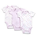 Sterling Baby Size 3M 3-Pack Origami Bow Bodysuits in White