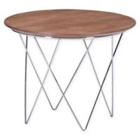 Zuo Modern Macho Side Table in Walnut