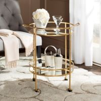 Safavieh Lavinia Bar Cart in Gold