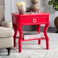 Safavieh Alaia Nightstand in Red