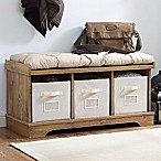 Forest Gate Storage Bench in Chestnut