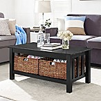 Walker Edison 40-Inch Storage Coffee Table in Black