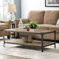 Walker Edison Angle Coffee Table in Chestnut