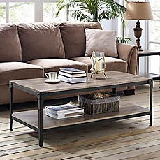 Walker Edison Wheatland Angle Coffee Table