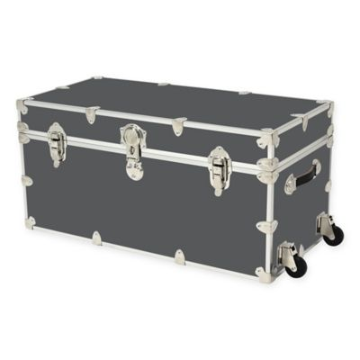 Rhino Trunk And Case™ XXL Rhino Armor Trunk With Removable Wheels In Slate