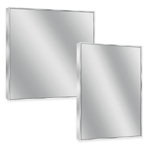 Spectrum Rectangular Framed Wall Mirror In Brushed Nickel Bed Bath Beyond