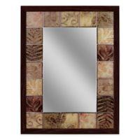 Leaf Tile 25.5-Inch x 34.5-Inch Mirror