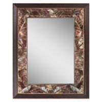 Tropical Leaf 27-Inch x 35-Inch Mirror in Copper