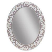 23-Inch x 29-Inch Earthtone Mosiac Frameless Wall Mirror