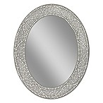 Opal Mosaic 23-Inch x 29-Inch Large Frameless Wall Mirror