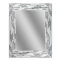 Reeded Charcoal 24-Inch x 30-Inch Frameless Mirror