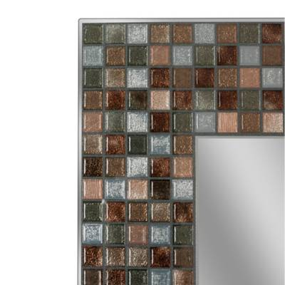 Image For Copper Tile 24 Inch X 30 Frameless Mirror 2 Out
