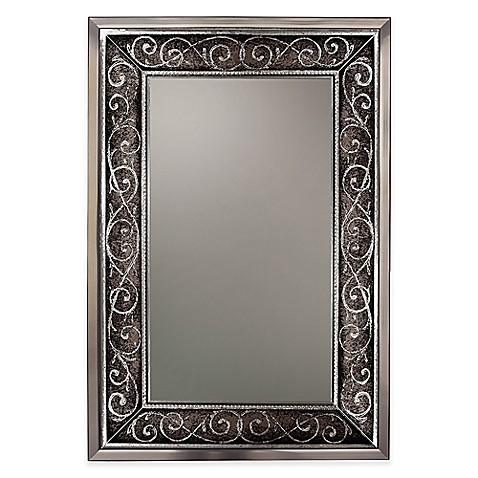 Verona 24 Inch X 36 Inch Mirror In Brushed Nickel Bed Bath Amp Beyond
