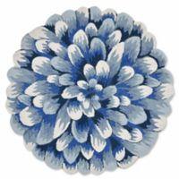 Liora Manne Frontporch Mum 3-Foot Round Indoor/Outdoor Mat in Blue