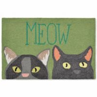 Liora Manne Frontporch Meow 2-Foot 6-Inch x 4-Foot Indoor/Outdoor Mat in Green