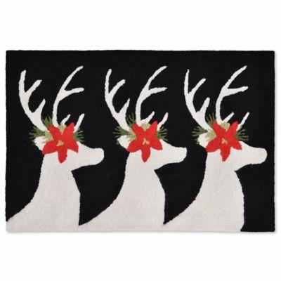 Liora Manne Frontporch Reindeer 2 Foot X 3 Foot Indoor/Outdoor Mat In