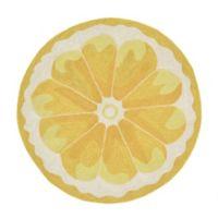 Liora Manne Front Porch Lemon Slice 3-Foot Round Indoor/Outdoor Rug in Yellow