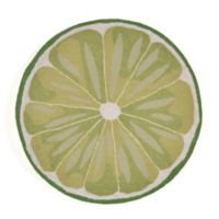 Liora Manne Frontporch Lime Slice 3-Foot Round Mat