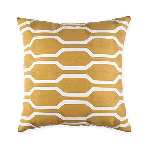 Yellow Throw Pillows For Bed : Joann 18-Inch Square Throw Pillow in Yellow - Bed Bath & Beyond