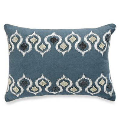 Anna Oblong Throw Pillow in Teal - Bed Bath & Beyond
