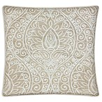 Whitney Square Throw Pillow in Natural (Set of 2)