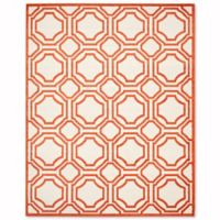 Safavieh Amherst Abigail 8-Foot x 10-Foot Indoor/Outdoor Area Rug in Ivory/Orange