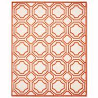 Safavieh Amherst Abigail 9-Foot x 12-Foot Indoor/Outdoor Area Rug in Ivory/Orange