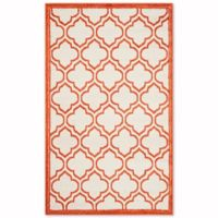 Safavieh Amherst Belle 3-Foot x 5-Foot Indoor/Outdoor Area Rug in Ivory/Orange