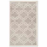 Safavieh Amherst Belle 2-Foot 6-Inch x 4-Foot Indoor/Outdoor Area Rug in Light Grey/Ivory