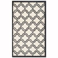 Safavieh Amherst Belle 3-Foot x 5-Foot Indoor/Outdoor Area Rug in Ivory/Anthracite
