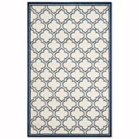Safavieh Amherst Belle 6-Foot x 9-Foot Indoor/Outdoor Area Rug in Ivory/Navy