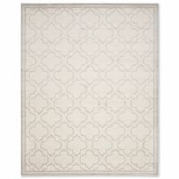 Safavieh Amherst Belle 8-Foot x 10-Foot Indoor/Outdoor Area Rug in Ivory/Grey