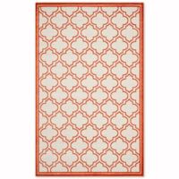 Safavieh Amherst Belle 5-Foot x 8-Foot Indoor/Outdoor Area Rug in Ivory/Orange