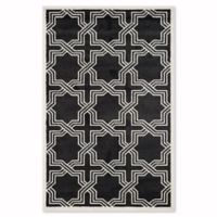 Safavieh Amherst Derry 4-Foot x 6-Foot Indoor/Outdoor Area Rug in Anthracite