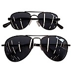 Daddy & Me Tiny Treasures 2-Piece Aviator Sunglasses Set in Black
