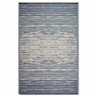 Fab Habitat World Collection Brooklyn 3-Foot x 5-Foot Indoor/Outdoor Rug in Blue