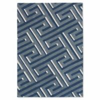 Liora Manne 3-Foot 6-Inch x 5-Foot 6-Inch Maze Rug in Denim