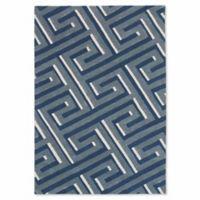 Liora Manne 9-Foot x 12-Foot Maze Rug in Denim