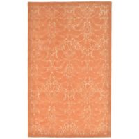 Liora Manne Seville Modern Damask 3-Foot 6-Inch x 5-Foot 6-Inch Accent Rug in Apricot