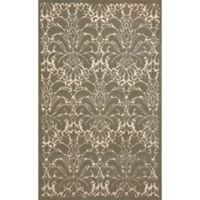 Liora Manne Seville Modern Damask 3-Foot 6-Inch x 5-Foot 6-Inch Accent Rug in Silver
