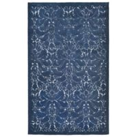 Liora Manne Seville Modern Damask 9-Foot x 12-Foot Area Rug in Denim