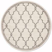 Safavieh Amherst Quake 7-Foot x 7-Foot Indoor/Outdoor Rug in Ivory