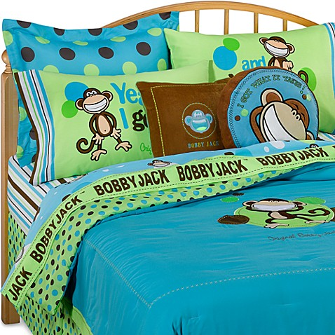 Bobby jack going dotty bedding bed bath beyond for Curious george bedroom ideas