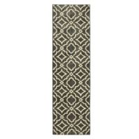 Mohawk Home® 2-Foot 1-Inch x 7-Foot 10-Inch Carved Tiles Runner in Denim